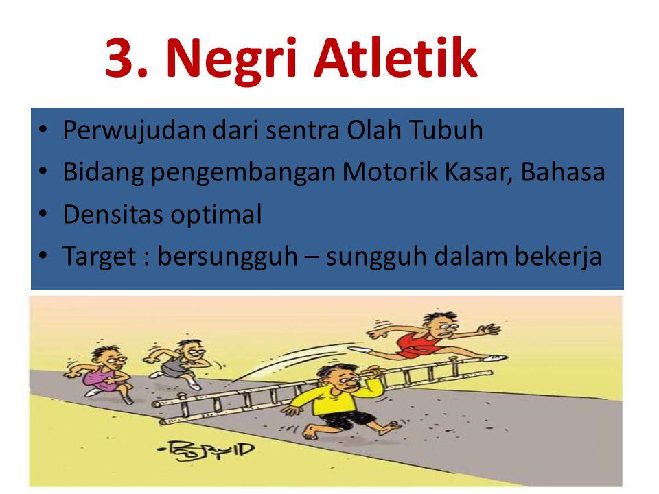 3. Negri Atletik Perwujudan dari sentra Olah Tubuh