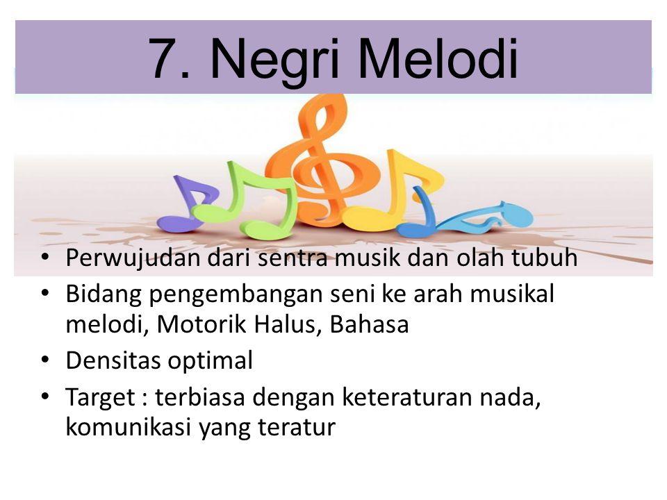 7. Negri Melodi Perwujudan dari sentra musik dan olah tubuh
