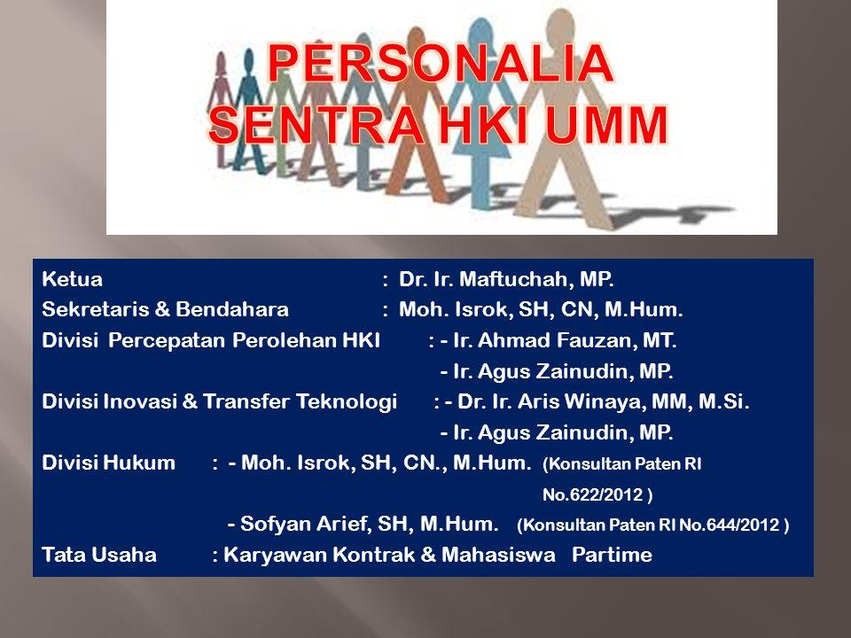 PERSONALIA SENTRA HKI UMM