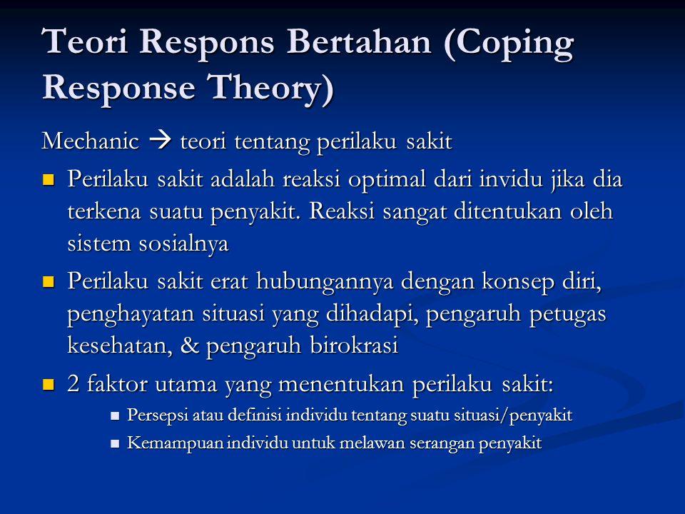 Teori Respons Bertahan (Coping Response Theory)