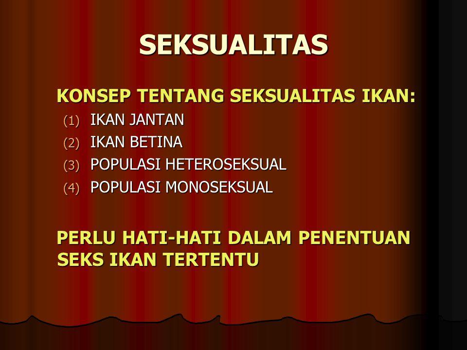 SEKSUALITAS KONSEP TENTANG SEKSUALITAS IKAN: