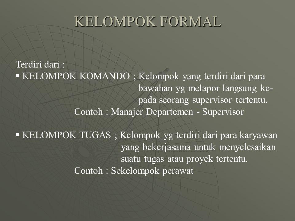 KELOMPOK FORMAL Terdiri dari :
