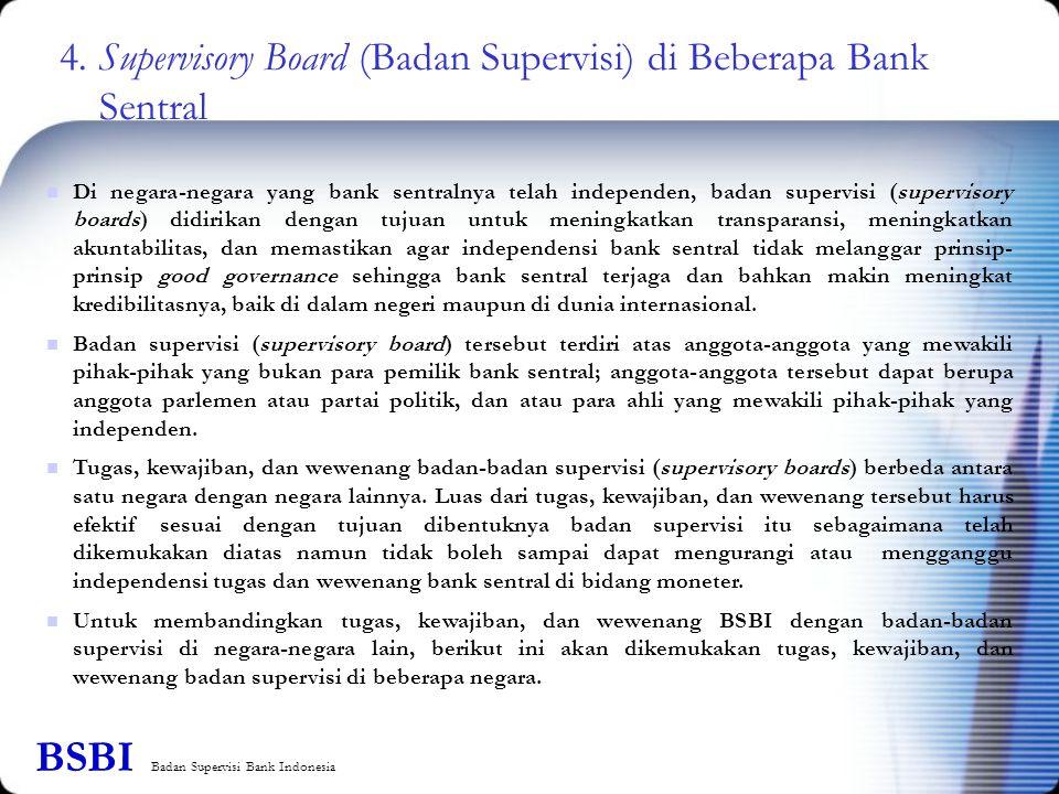 4. Supervisory Board (Badan Supervisi) di Beberapa Bank Sentral