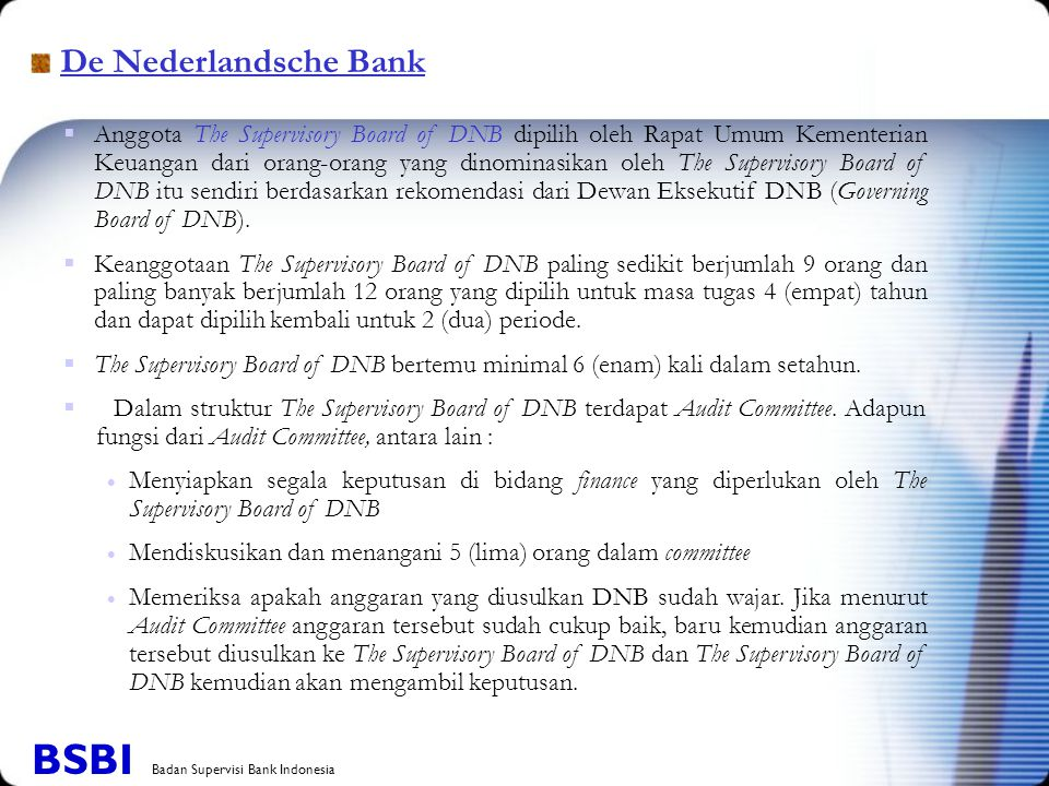 BSBI Badan Supervisi Bank Indonesia