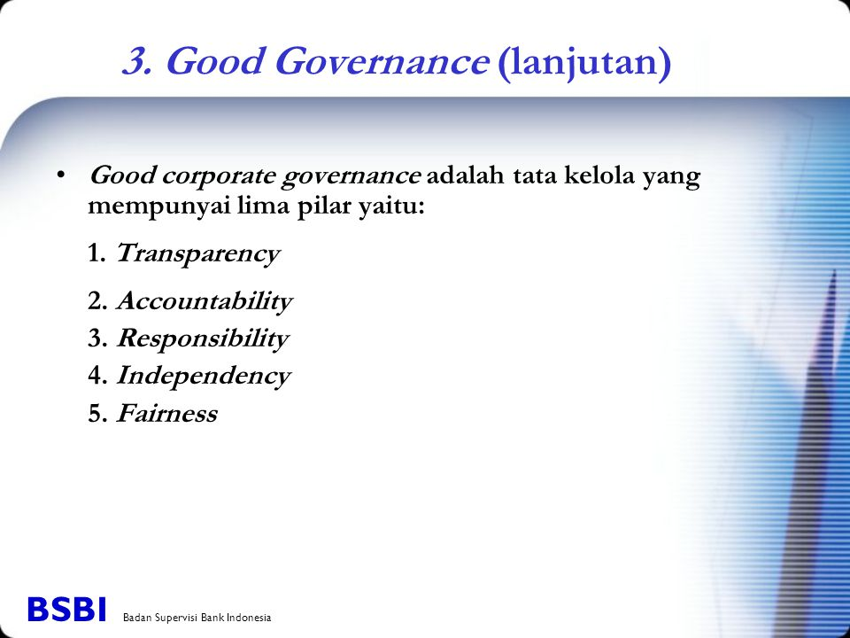 3. Good Governance (lanjutan)