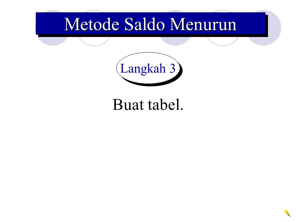 Metode Saldo Menurun Langkah 3 Buat tabel.