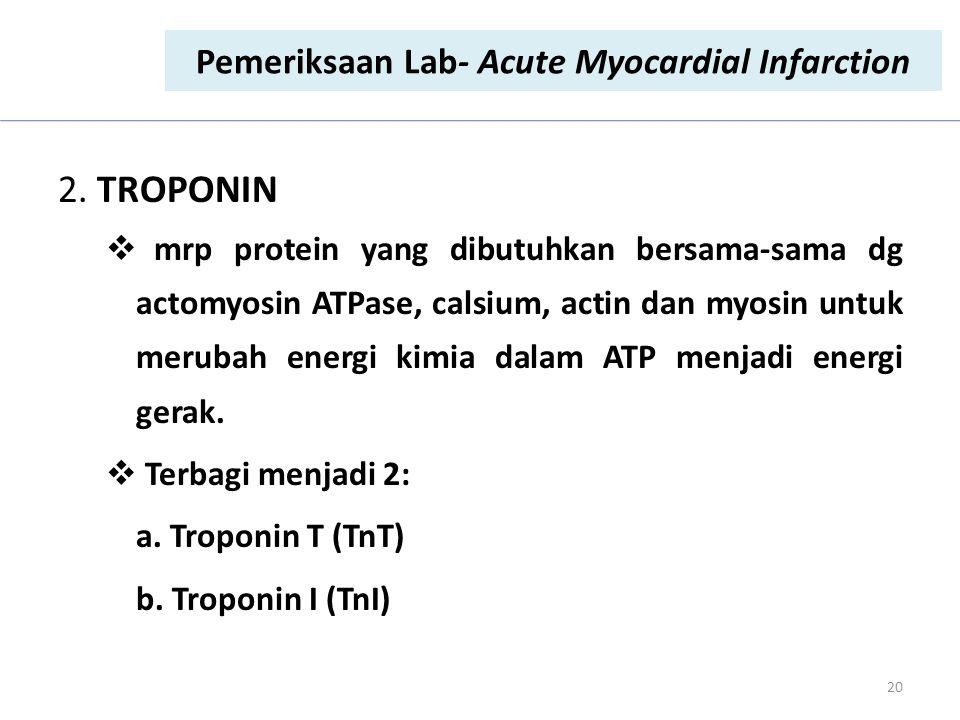 Pemeriksaan Lab- Acute Myocardial Infarction
