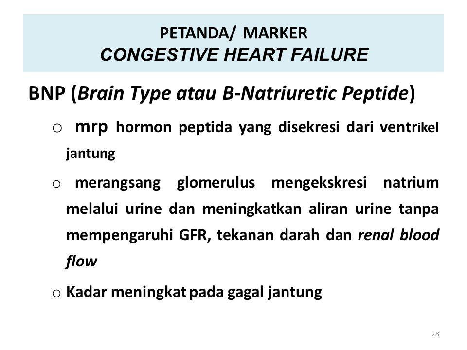 PETANDA/ MARKER CONGESTIVE HEART FAILURE