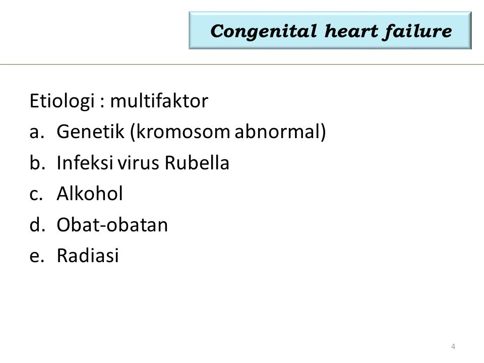 Congenital heart failure