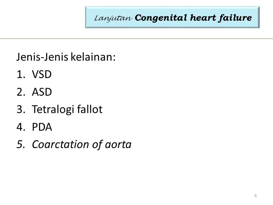 Lanjutan Congenital heart failure