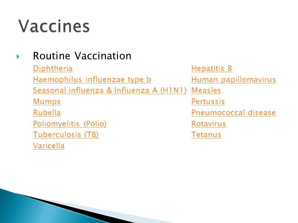 Vaccines Routine Vaccination Diphtheria Hepatitis B