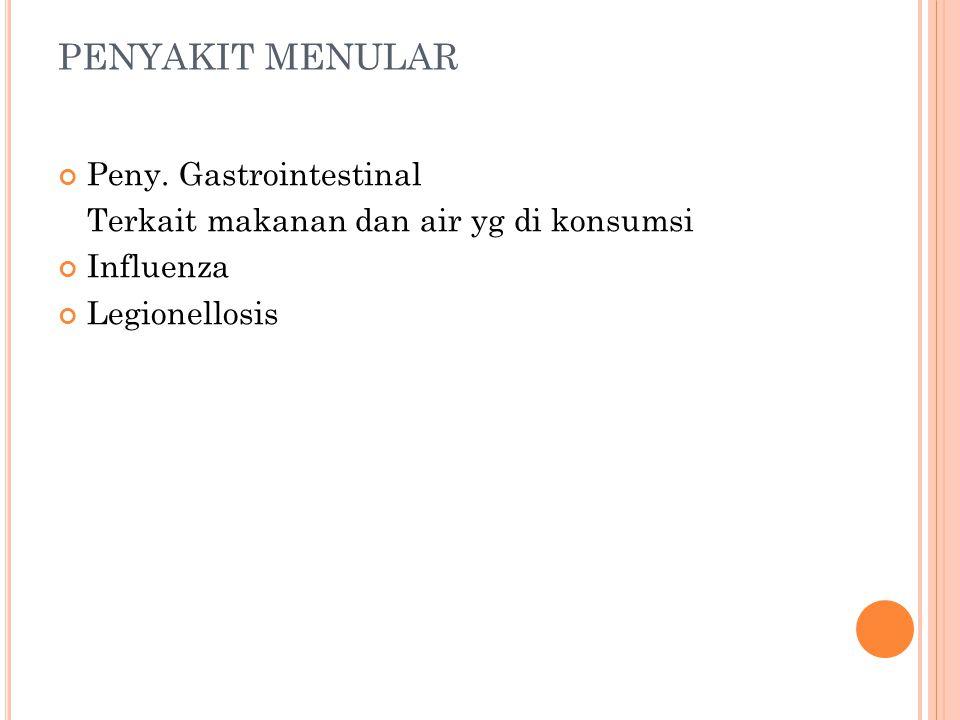 PENYAKIT MENULAR Peny. Gastrointestinal