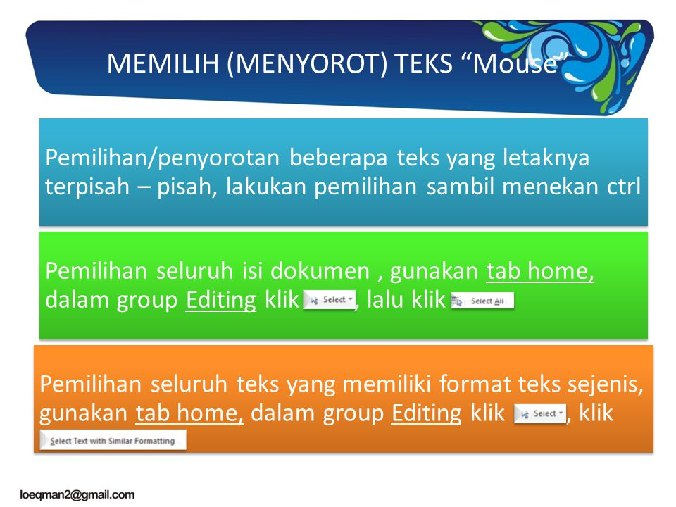 MEMILIH (MENYOROT) TEKS Mouse