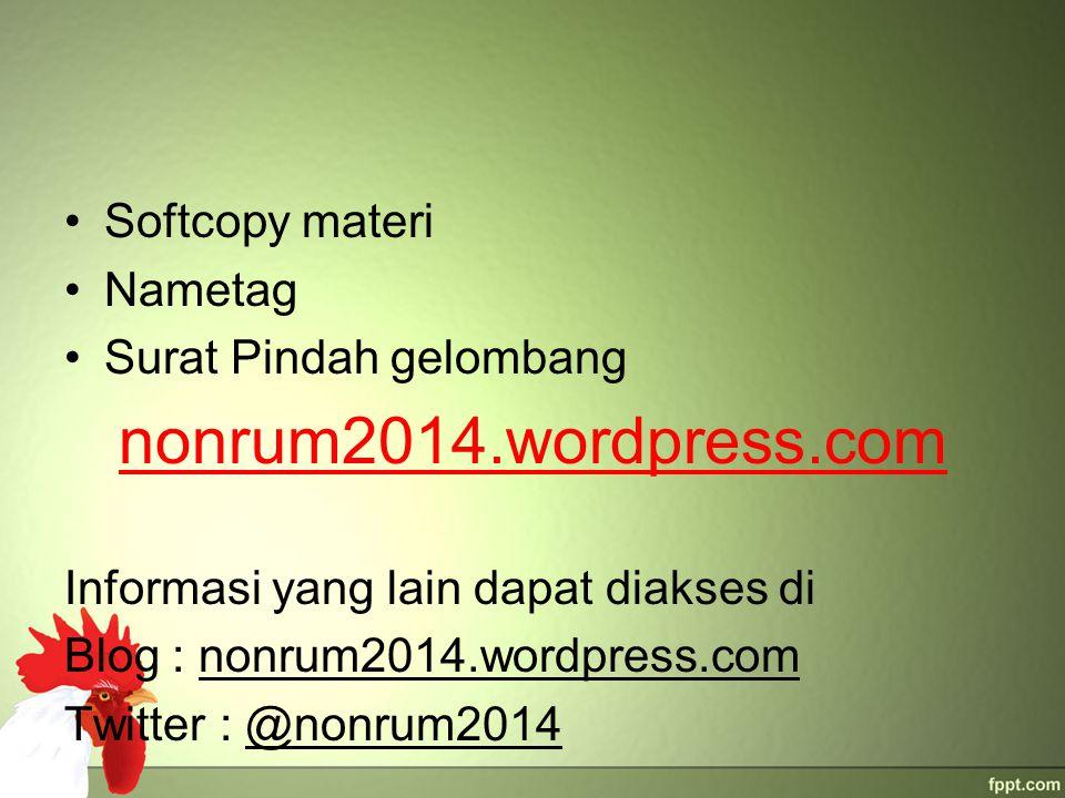 nonrum2014.wordpress.com Softcopy materi Nametag