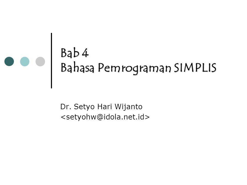 Bab 4 Bahasa Pemrograman SIMPLIS