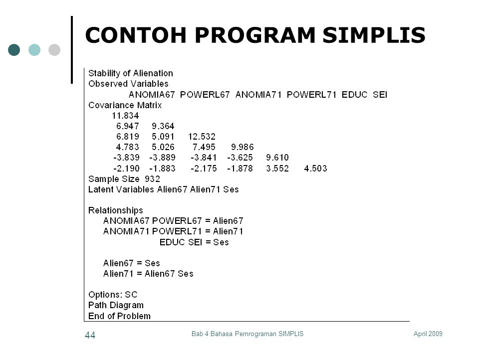 CONTOH PROGRAM SIMPLIS