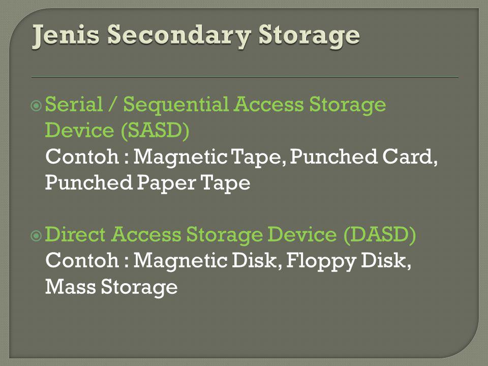 Jenis Secondary Storage