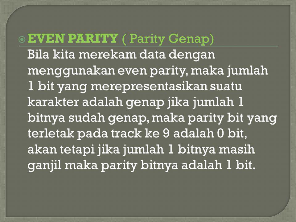 EVEN PARITY ( Parity Genap)