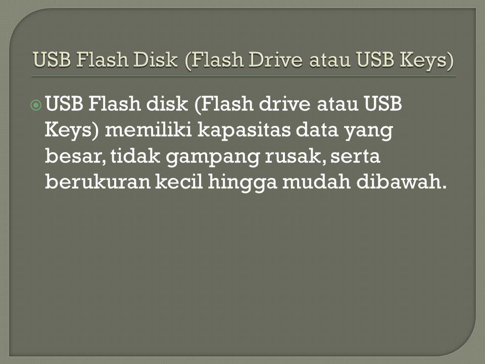 USB Flash Disk (Flash Drive atau USB Keys)