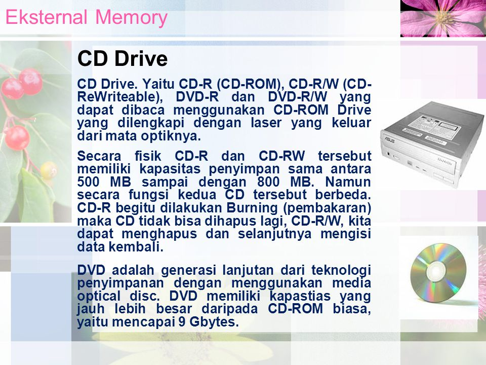 CD Drive Eksternal Memory