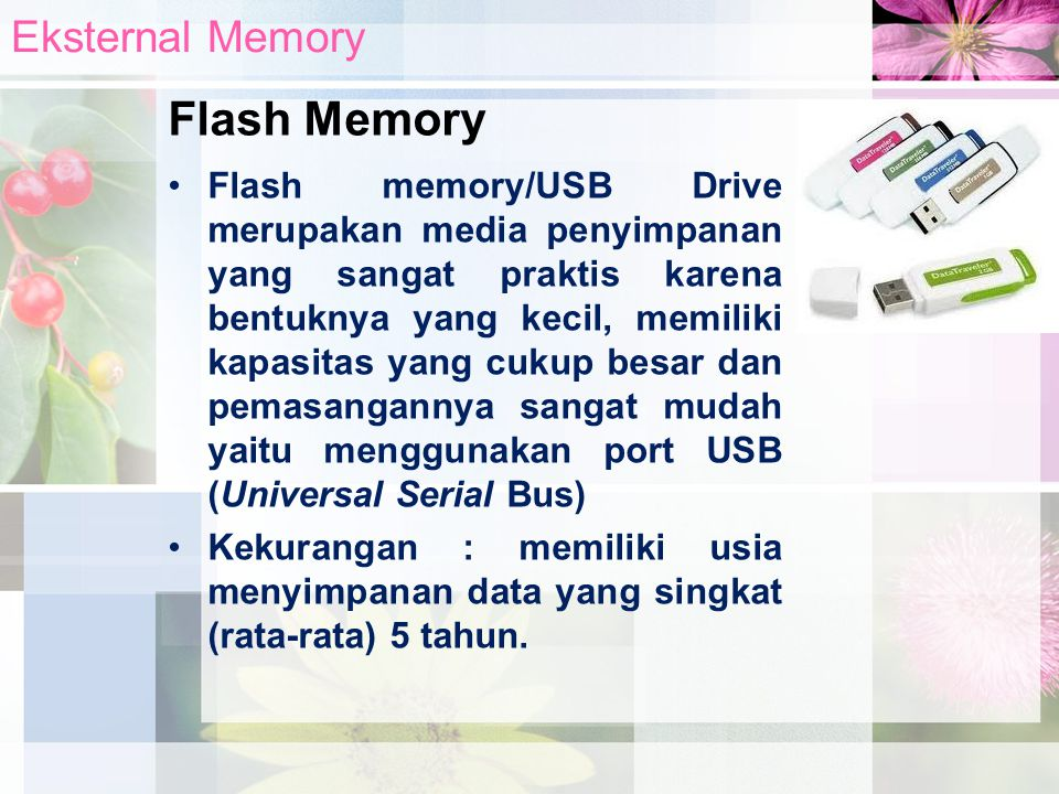 Flash Memory Eksternal Memory