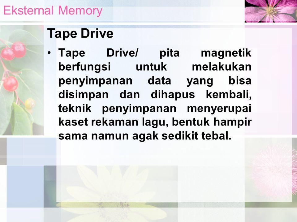 Tape Drive Eksternal Memory
