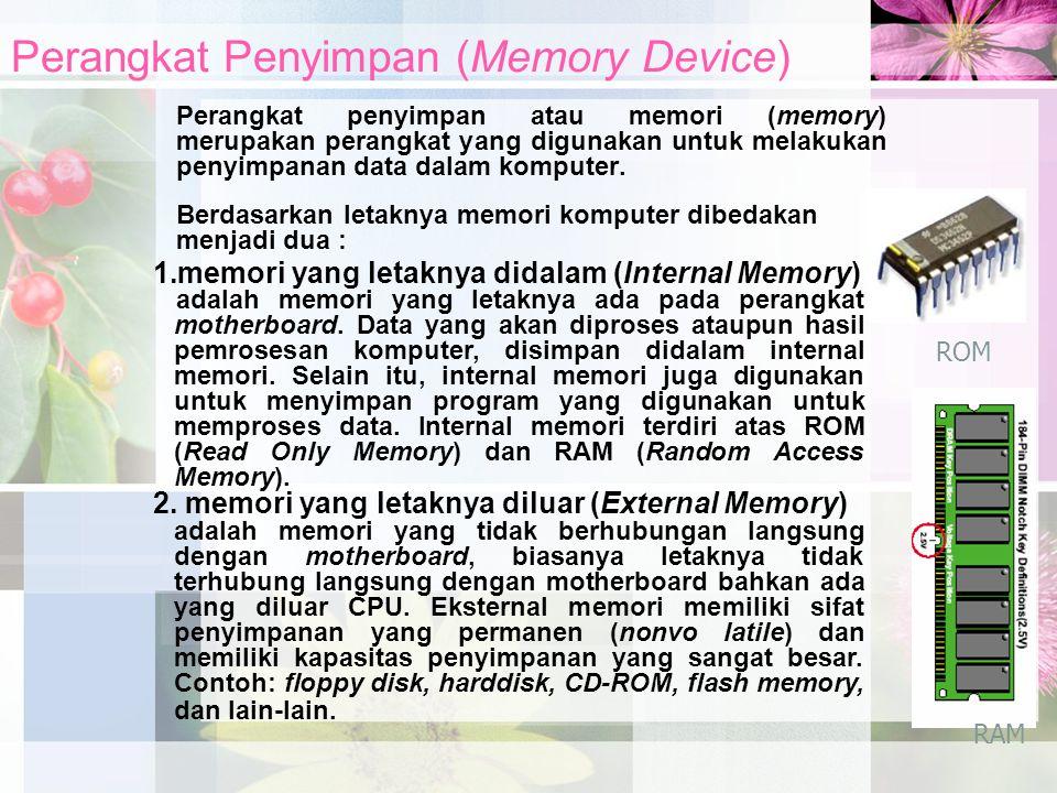 Perangkat Penyimpan (Memory Device)