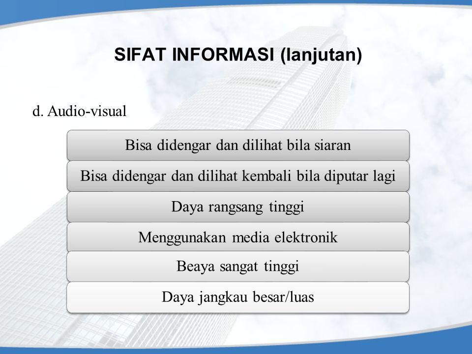 SIFAT INFORMASI (lanjutan)