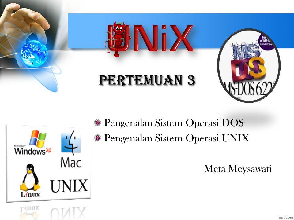 Pertemuan 3 Pengenalan Sistem Operasi DOS