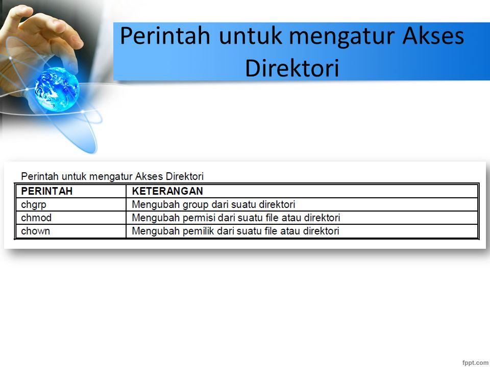 Perintah untuk mengatur Akses Direktori