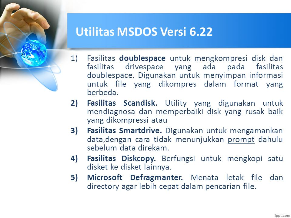 Utilitas MSDOS Versi 6.22