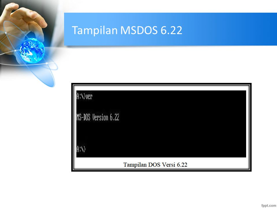Tampilan MSDOS 6.22