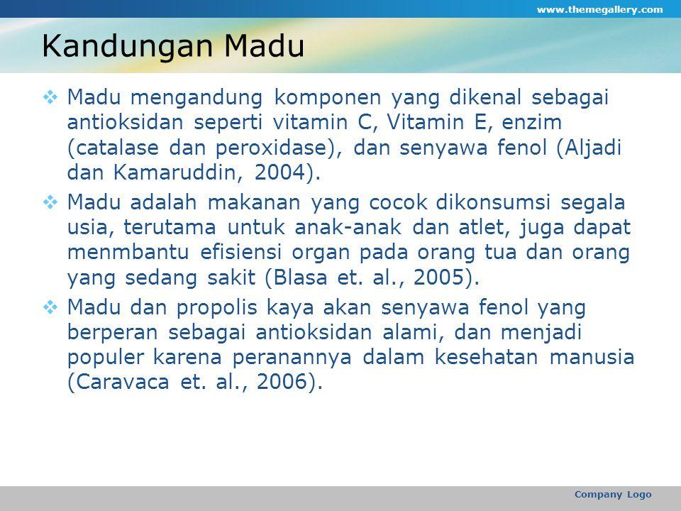 www.themegallery.com Kandungan Madu.