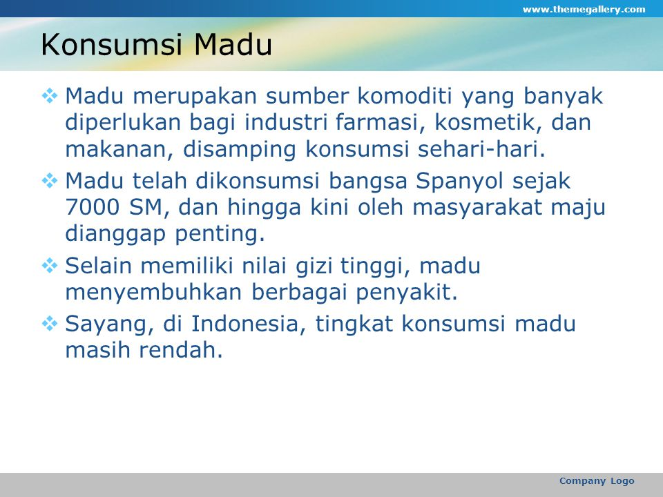 www.themegallery.com Konsumsi Madu.