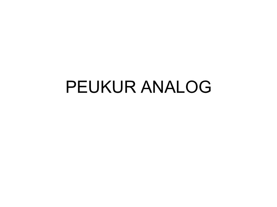 PEUKUR ANALOG