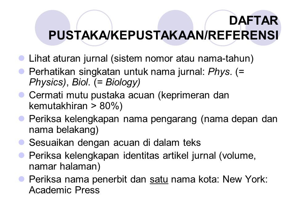 DAFTAR PUSTAKA/KEPUSTAKAAN/REFERENSI