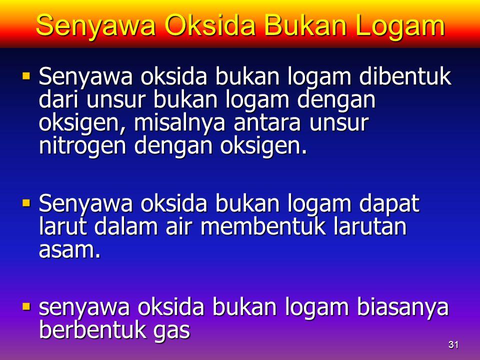 Senyawa Oksida Bukan Logam