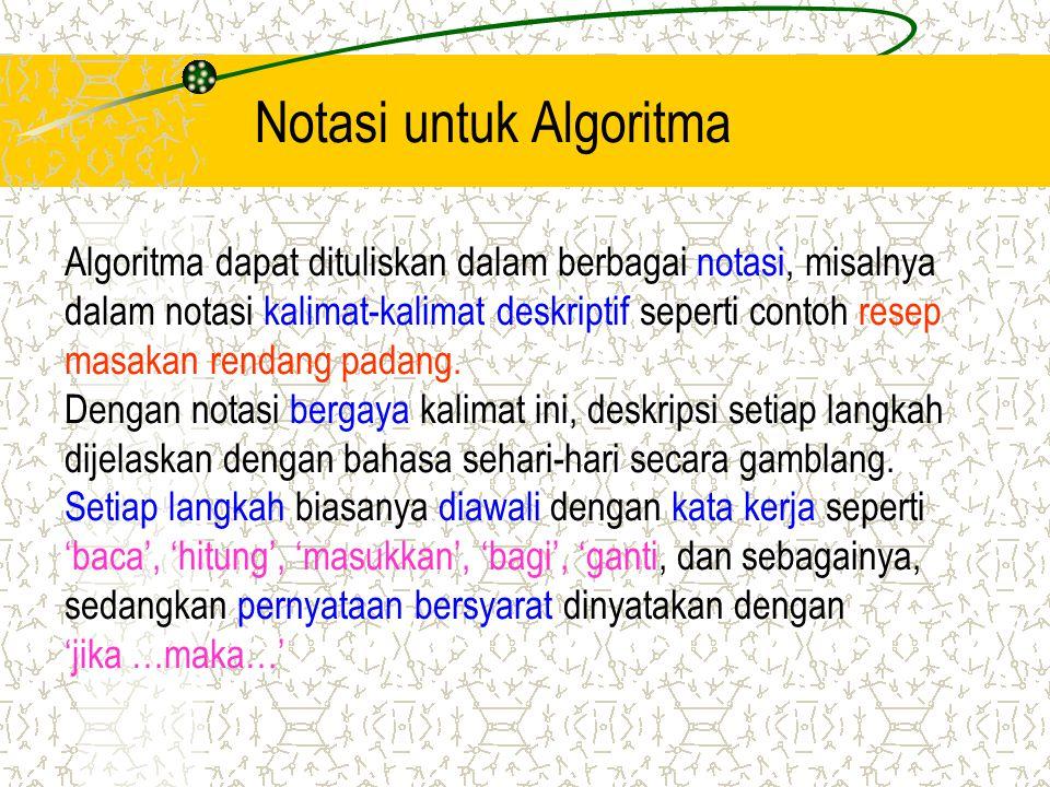 Notasi untuk Algoritma