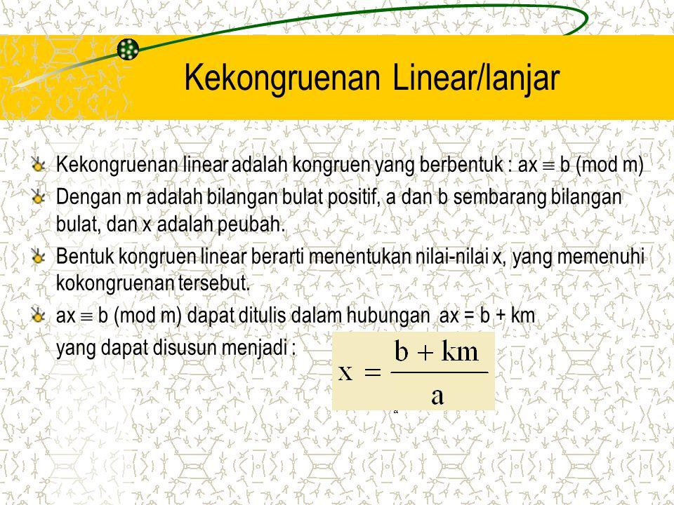 Kekongruenan Linear/lanjar