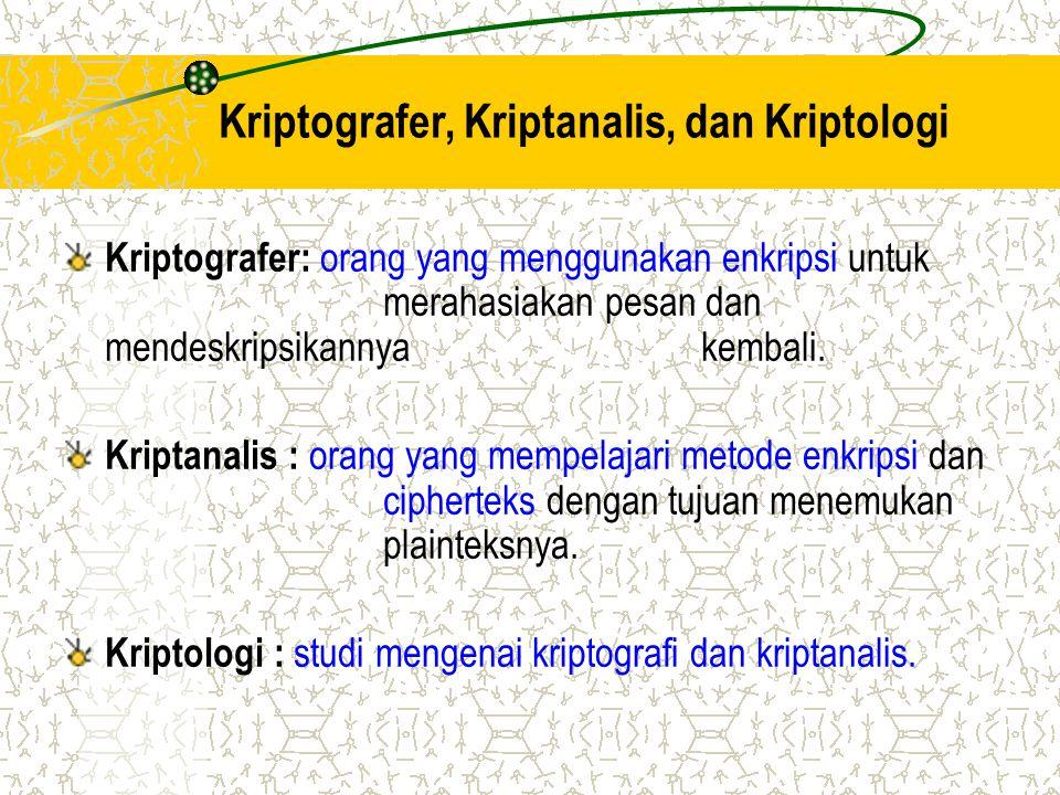 Kriptografer, Kriptanalis, dan Kriptologi