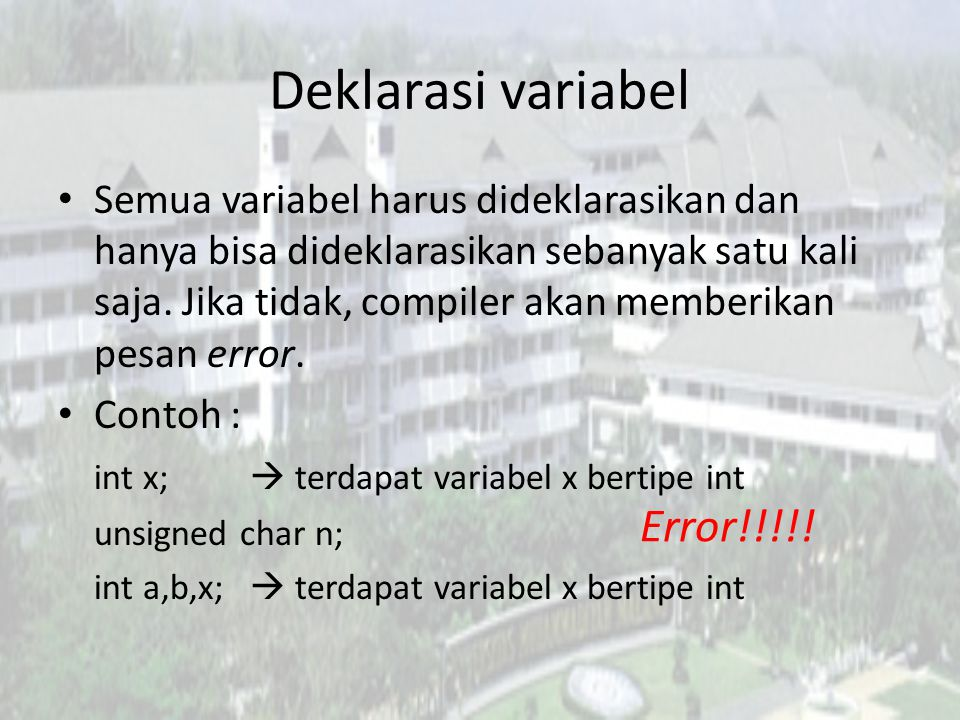 Deklarasi variabel Error!!!!!