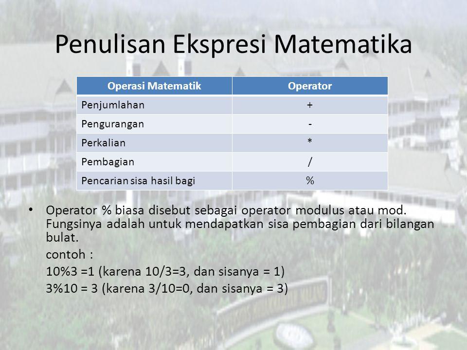 Penulisan Ekspresi Matematika