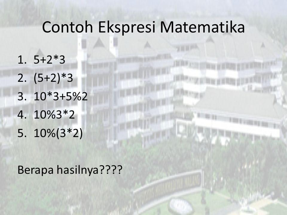 Contoh Ekspresi Matematika