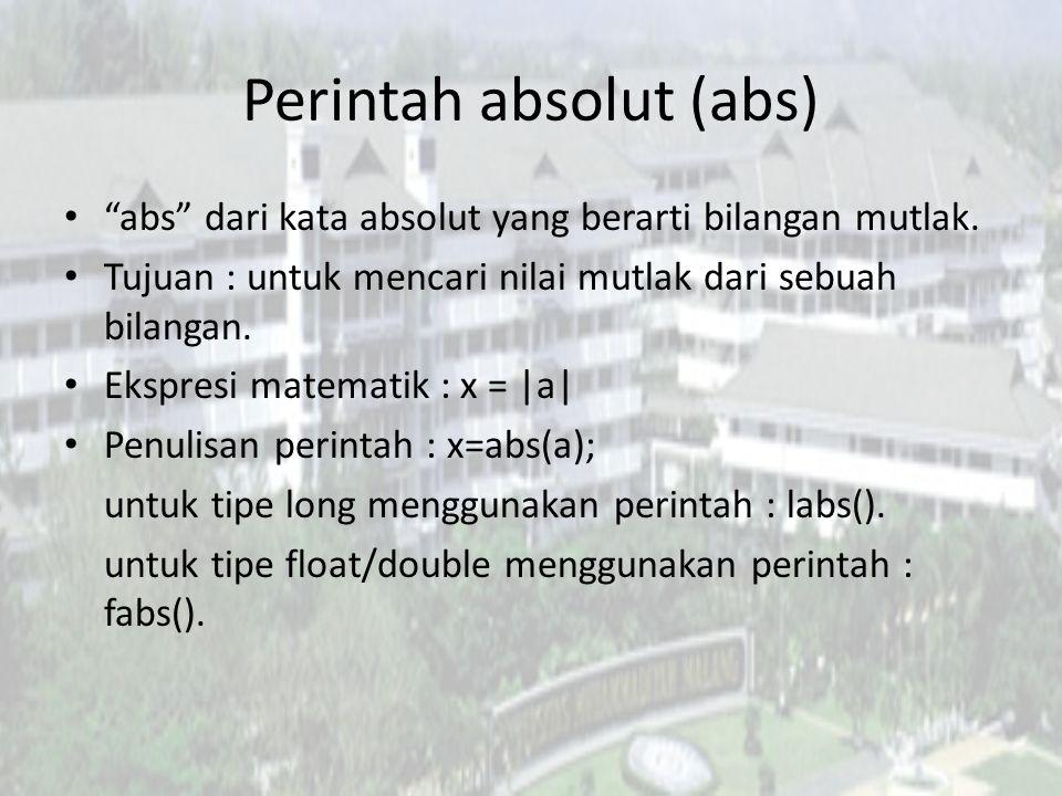 Perintah absolut (abs)