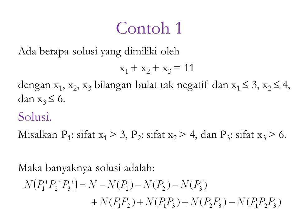 Contoh 1 Solusi. Ada berapa solusi yang dimiliki oleh