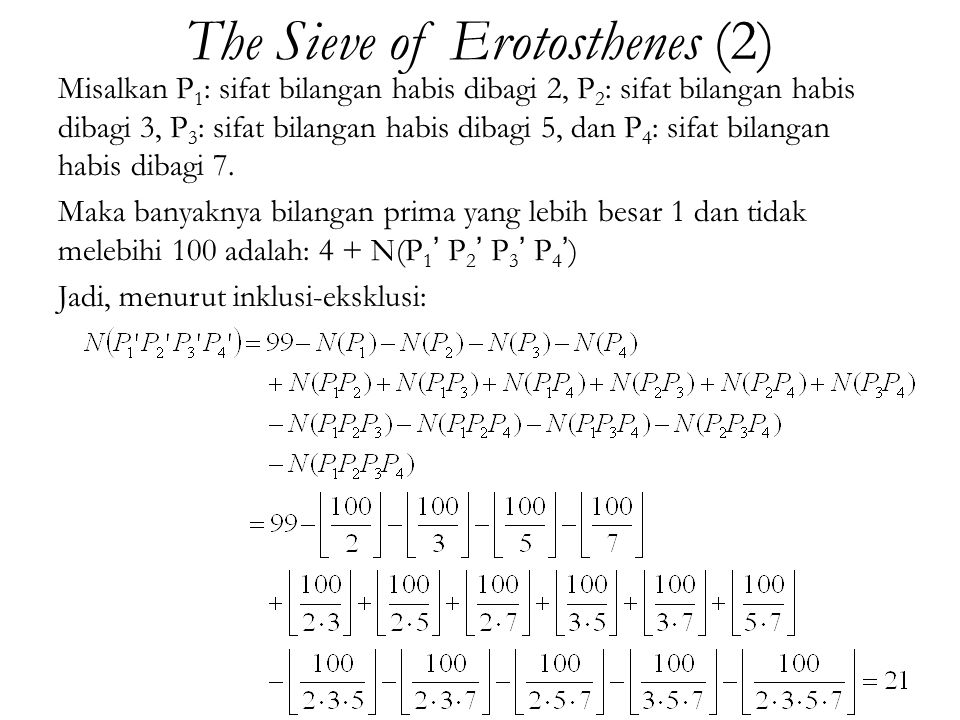 The Sieve of Erotosthenes (2)