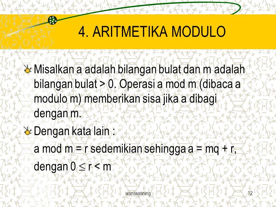 4. ARITMETIKA MODULO