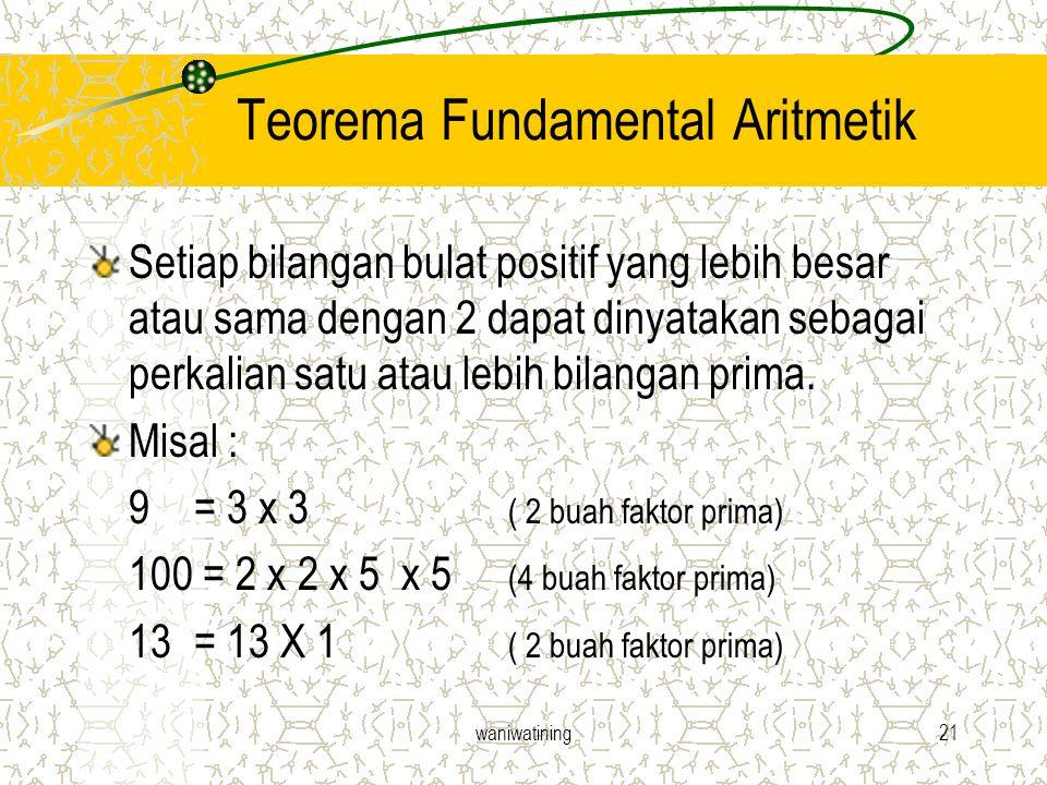 Teorema Fundamental Aritmetik