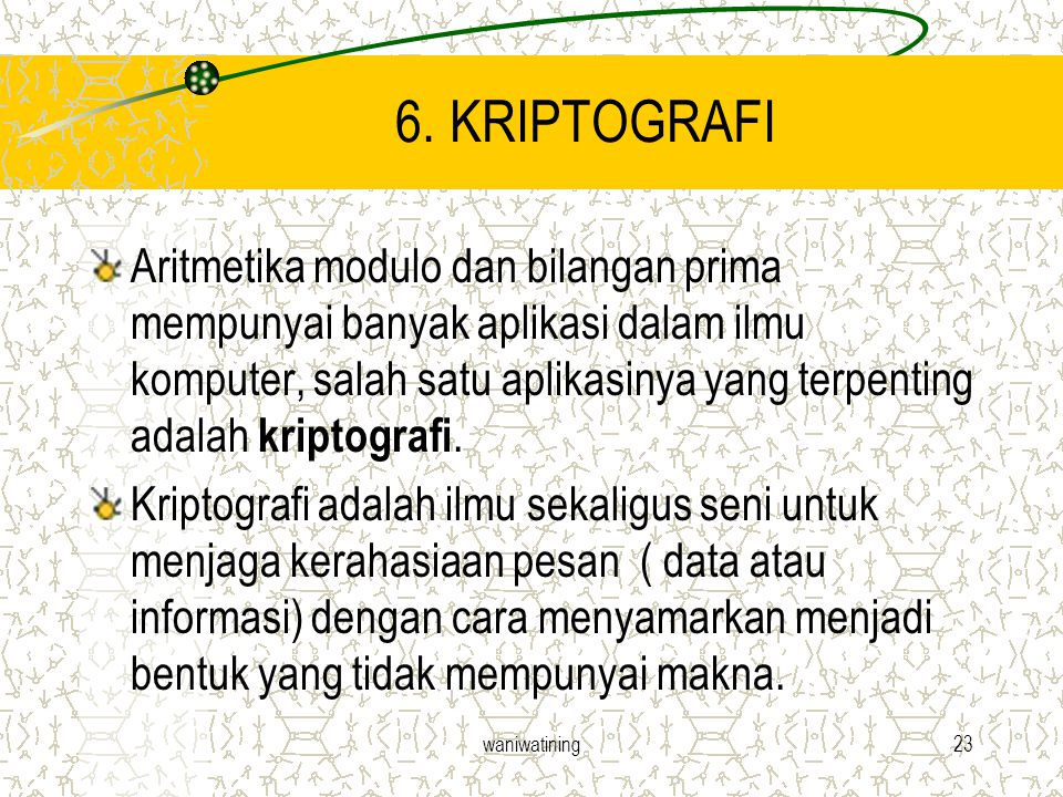 6. KRIPTOGRAFI