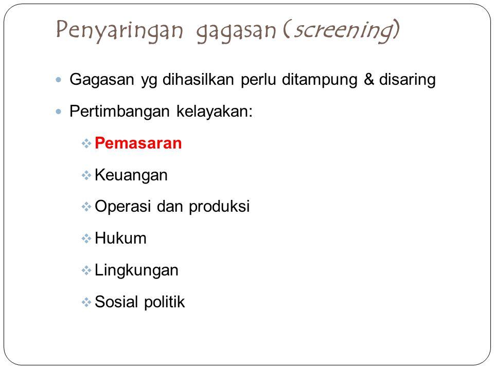 Penyaringan gagasan (screening)